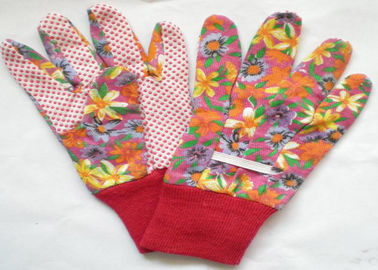 Elastic Line Design Garden Work Gloves 9.5' 10.5' Size Comfortable Hand Feeling